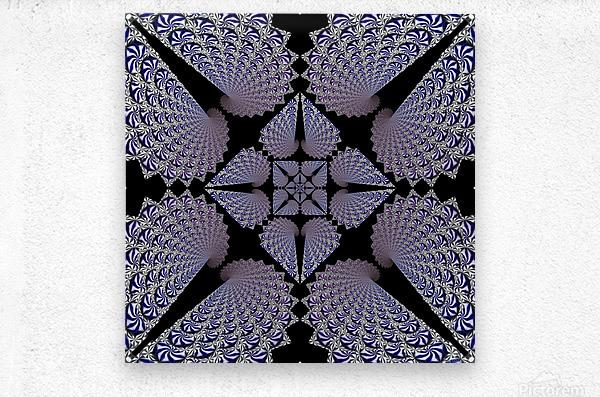 Twisted Mint Madness  Metal print
