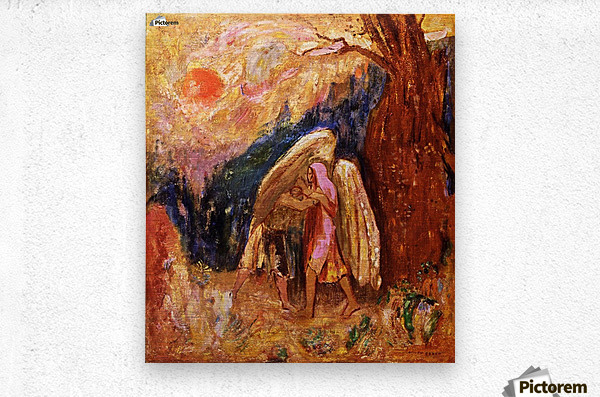 Jacob and the Angel  Metal print
