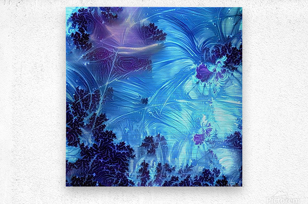 Abstract Blue Colors  Metal print