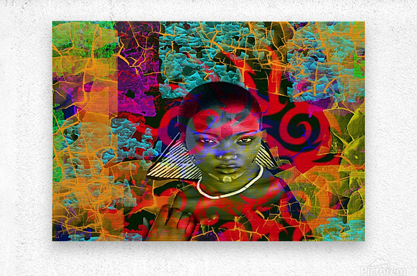 Lost in the Jungle  Metal print