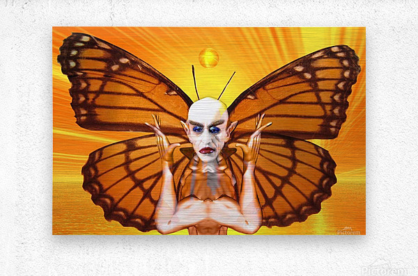 Metamorphosis of Nosferatu  Metal print
