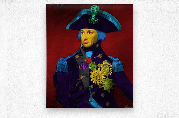 Horatio Nelson Pop Art  Metal print