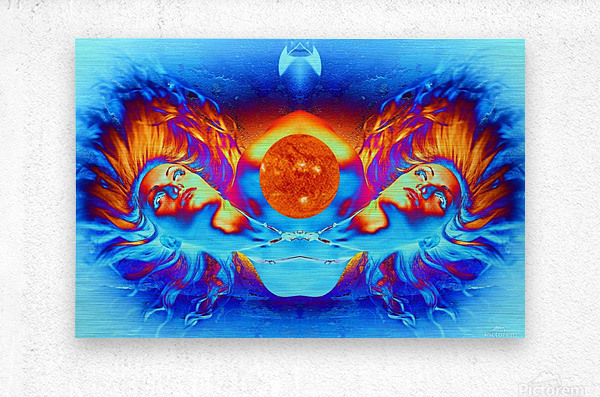 Escape from the Sun  Metal print