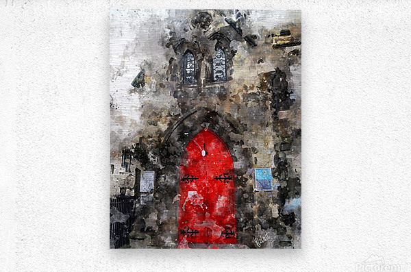 Red Door Edinburgh  Metal print