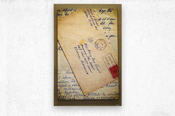 Old Letters  Metal print