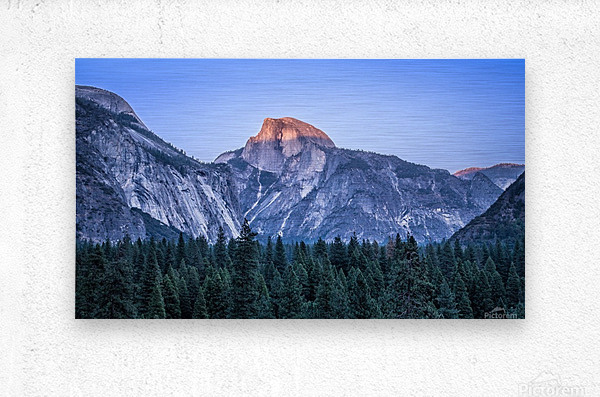 Half Dome Sunset Yosemite National Park  Metal print