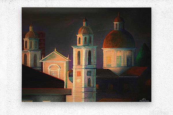 la basilica a Lavagna  Metal print