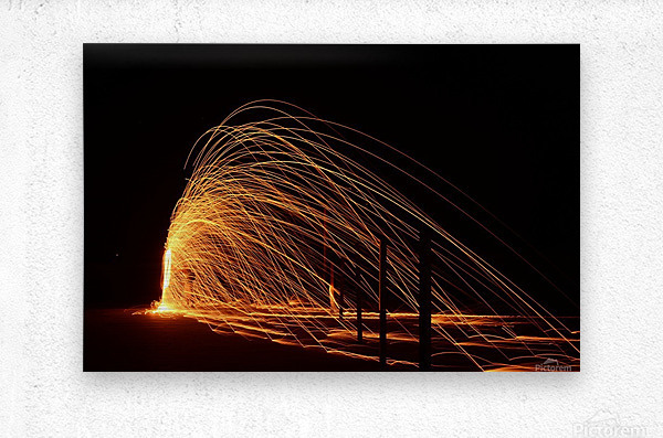 Majestic Flames  Metal print