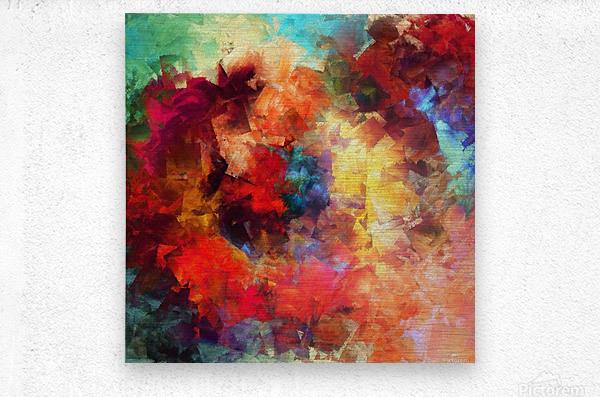 Whirling of Roses  Metal print