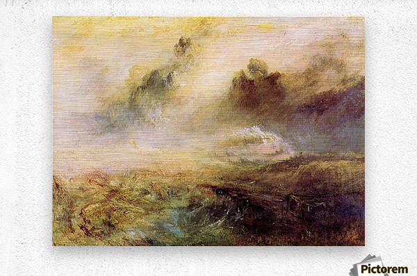 Rough Seas with wreckage by Joseph Mallord Turner  Metal print