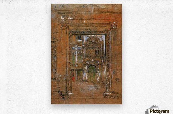 San Giovanni Apostolo et Evangelista by Whistler  Metal print