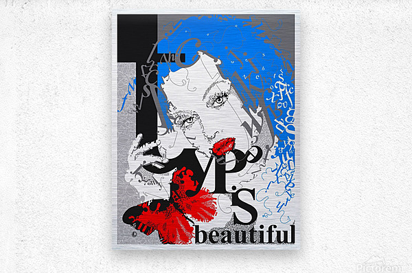 Type Is Beautiful - Typography Art Print  Metal print