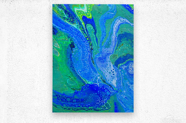 Emerald and Saphire  Metal print