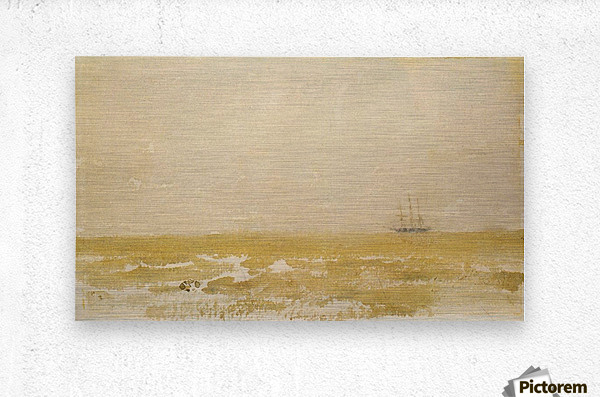 Seascape with Schooner by Whistler  Metal print