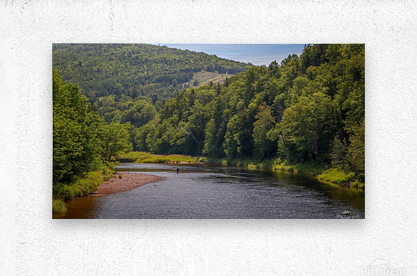Doyles Bridge Margaree river  Metal print