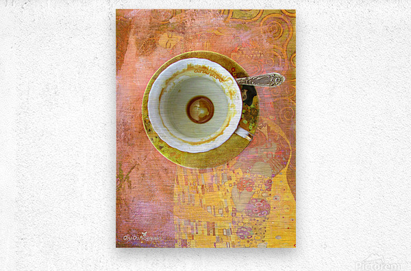 Coffee with Klimt  Metal print