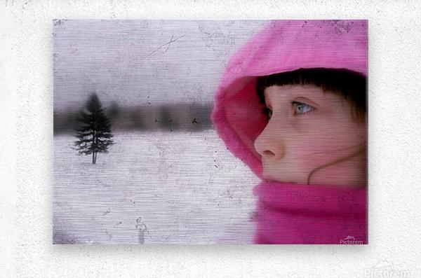 Winter pink  Metal print