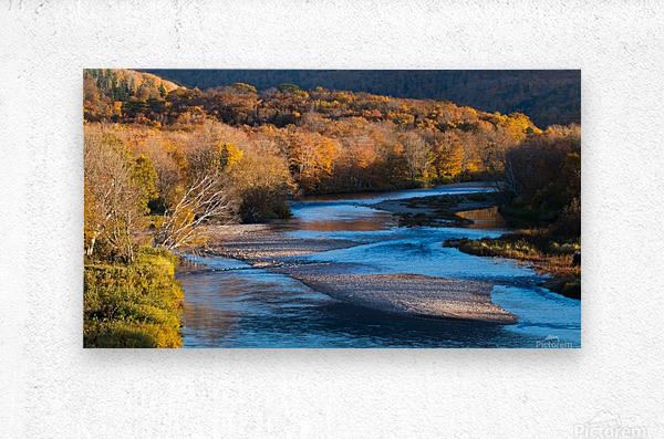 Cheticamp river Cape Breton highland national park  Metal print