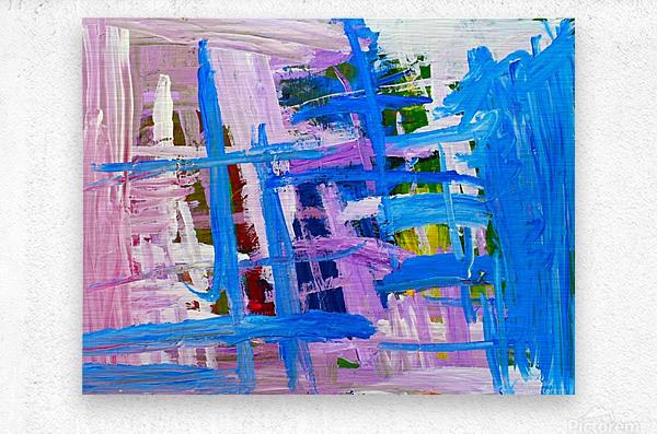 Blue Cascade. Katie J  Metal print