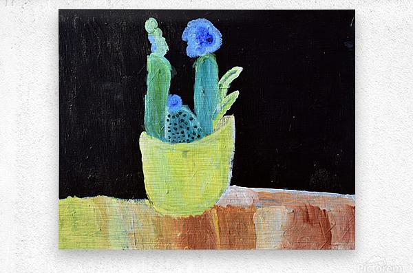 Blue Flower. Marie H  Metal print