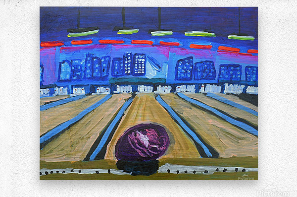 Bowling Alley. David K  Metal print
