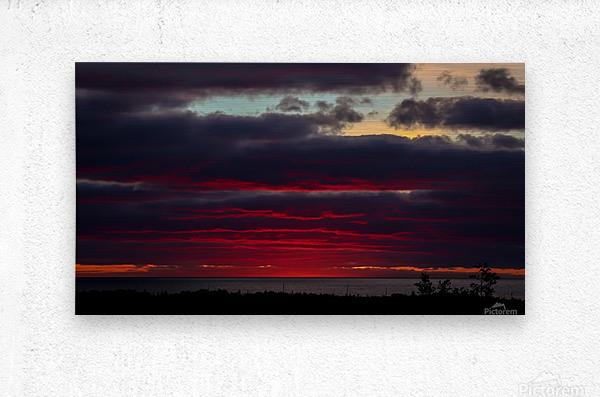 Blood red sunset  Metal print