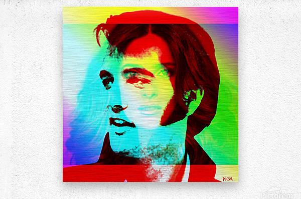 Elvis -Always on my Mind by Neil Gairn Adams  Metal print