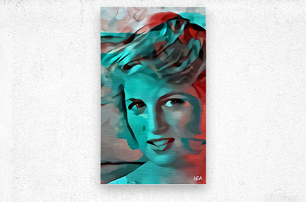 Princess Diana - by Neil Gairn Adams  Metal print