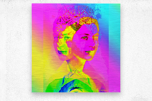 Royalty -  Queen Elizabeth by Neil Gairn Adams  Metal print