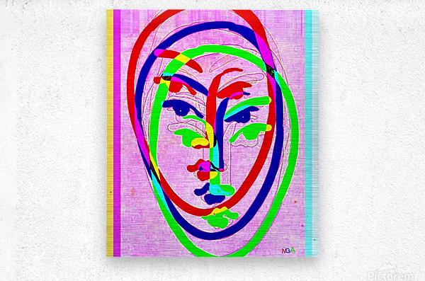Red Blue Green 2 - by Neil Gairn Adams  Metal print