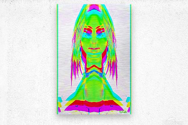 Lady in Green 2 -  by Neil Gairn Adams  Metal print