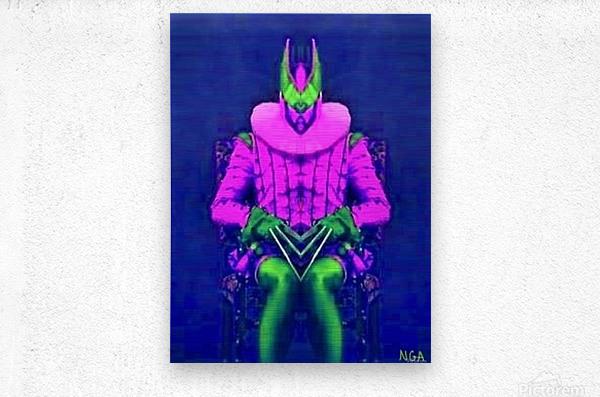 Man in a Chair 2 -   by Neil Gairn Adams  Metal print