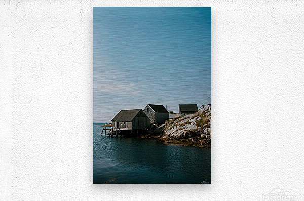 Peggys Cove Nova Scotia  Impression metal