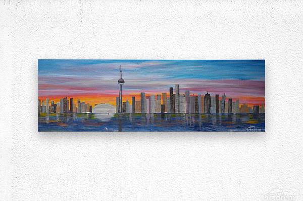 Rainbow Sunset  Metal print