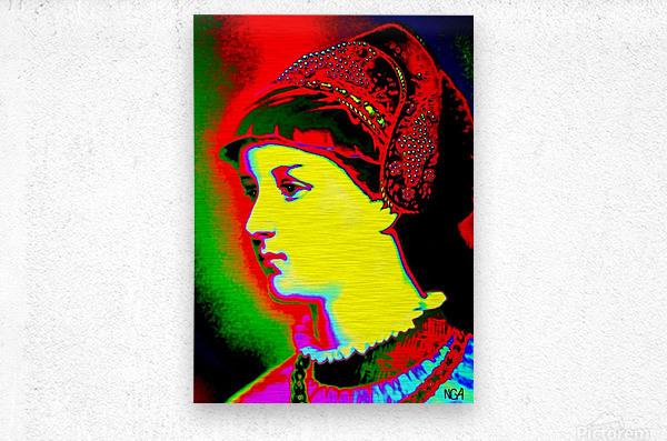 The Lady - by Neil Gairn Adams  Metal print