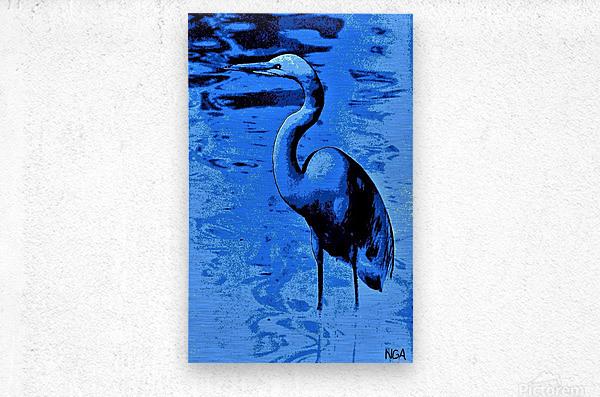 Bird in the Water -  by Neil Gairn Adams  Metal print