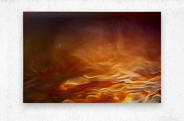 Burning water  Metal print