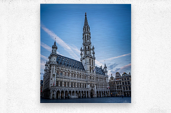Town Hall in the Grand Place - Belgium  Metal print