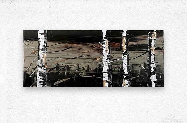 2502 - sophistication bouleaux  Metal print