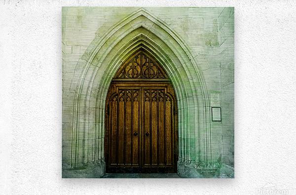 ZURICH CATHEDRAL DOOR  Metal print