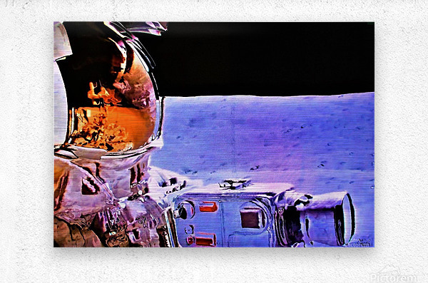 Historic Photography on the Moon - by Neil Gairn Adams  Metal print