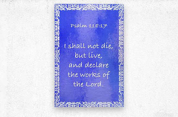 Psalm 118 17 10BL  Metal print