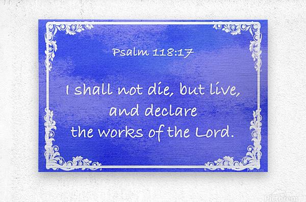 Psalm 118 17 9BL  Metal print
