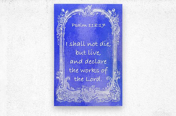 Psalm 118 17 7BL  Metal print
