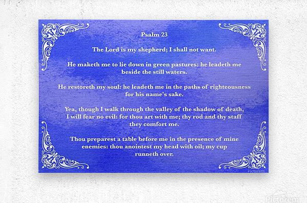Psalm 23 5BL  Metal print