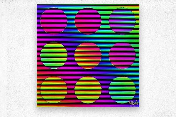 Disco Time - by Neil Gairn Adams  Metal print