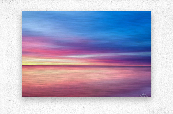 Abstract Sunset V  Metal print