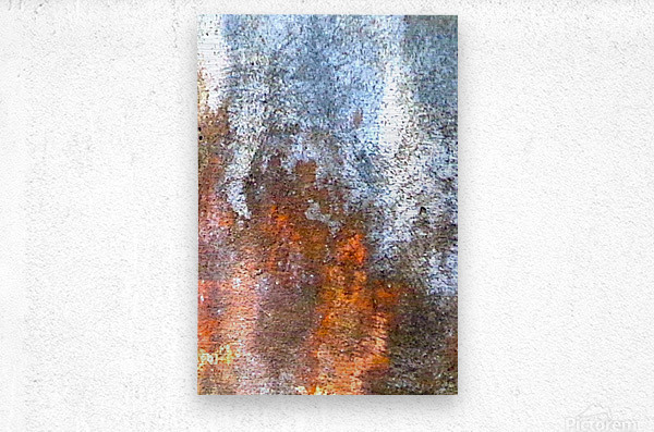 Blue Elephant - Red Flames  Metal print