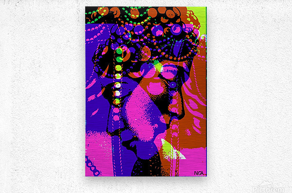 2 Heads are Better than One  -  by Neil Gairn Adams  Metal print
