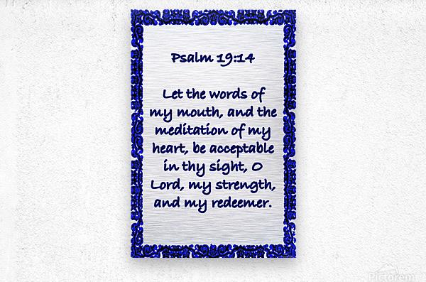 Psalm 19 14 10WBL  Metal print